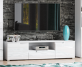 Santino White High Gloss Narrow Sideboard wholesale drop ship S5